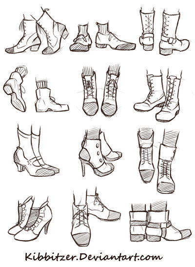 Shoes reference sheet drawing references and resources scoop it