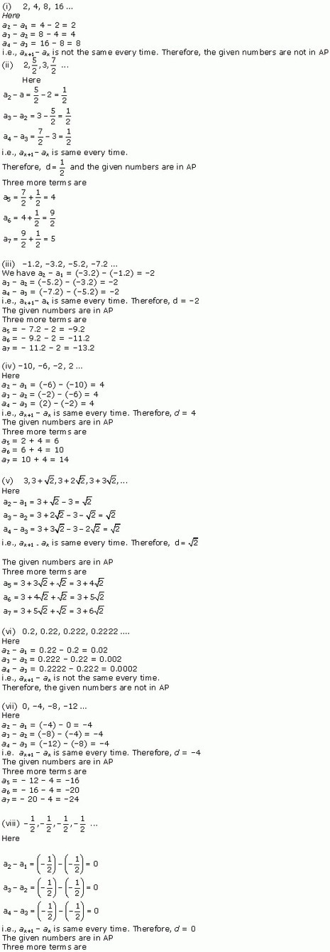 NCERT Solutions for Class 10 Maths Chapter 5 Ar