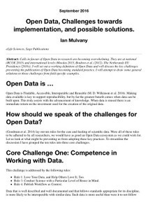 Open Data Challenges | Open Knowledge | Scoop.it