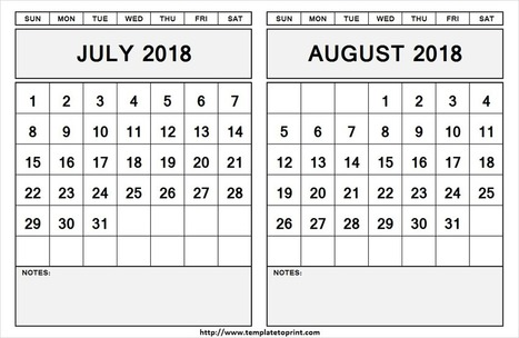 August 2017 Calendar Template Pdf Printable A