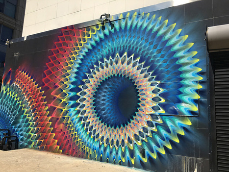 Rippled #Portals of #Colour Created with Spray Paint by #HOXXOH #pattern #streetart #graffiti | #Design | Scoop.it