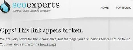 404 Error Page - Create A Customized Page for SEO Best Practice | SEOExperts-India | Scoop.it