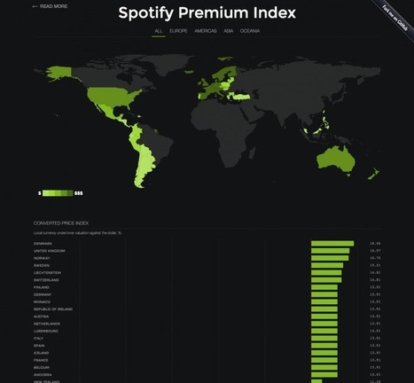 Spotify Premium Index Reveals How Price Differs Around the World | Digital music | Scoop.it