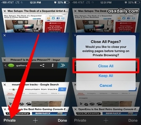 Instantly Close All Safari Tabs in iOS 7 for iPad & iPhone - OSXDaily | Edupads | Scoop.it