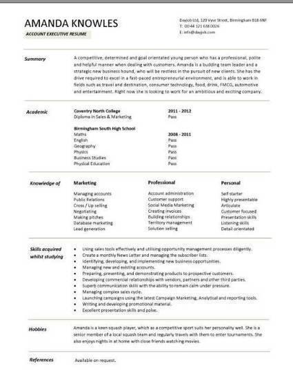graduate cv template  student jobs  graduate jo