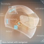 New helmet featuring augmented-reality technology will help bikers better navigate the road | Digital Trends | Augmented Reality in Education and Training | Scoop.it