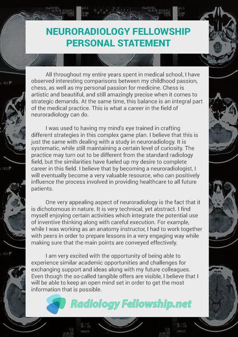 Neuroradiology Fellowship Personal Statement | ...