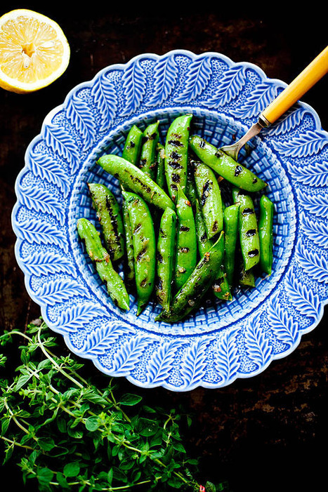 #HealthyRecipe ~ Grilled Sugar Snap Peas with Lemon Oregano Butter | The Man With The Golden Tongs Goes All Out On Health | Scoop.it
