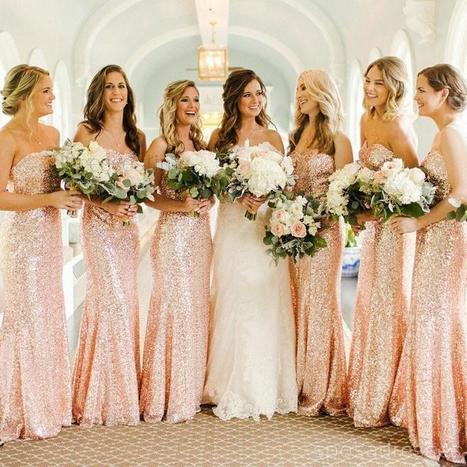 Rose Gold Bridesmaid Dress Ideas