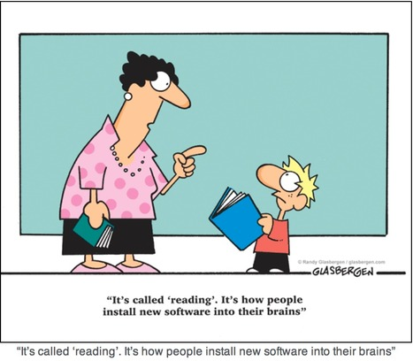 It's called reading … [cartoon] – | Common Core Reading | Scoop.it