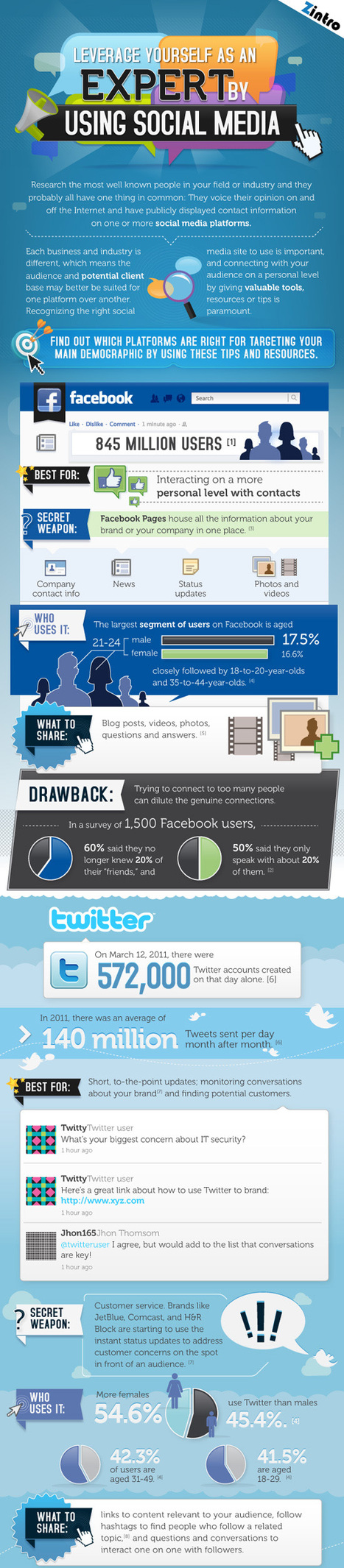 Leverage Yourself As An Expert By Using Social Media | Infographic | SOCIAL MEDIA MARKETING TIPS | Scoop.it