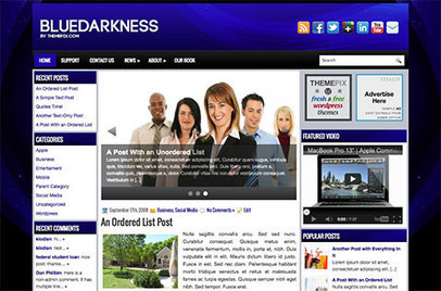 BlueDarkness | Blogger themes | Scoop.it