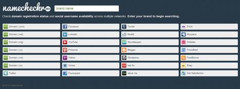 3 sites pour connaître la disponibilité de son pseudo sur les réseaux sociaux | Je, tu, il... nous ! | Scoop.it