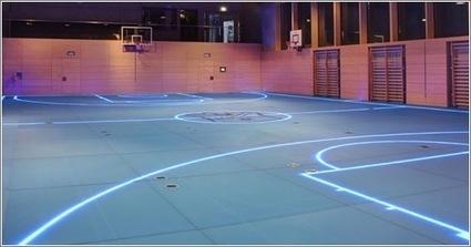Este gimnasio utiliza iluminación LED para cambiar las líneas de juego del suelo | Microsiervos (Tecnología) | Creatividad en la Escuela | Scoop.it