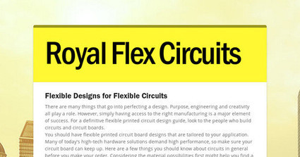 Flex and rigid-flex circuit board manufacturer design to production.