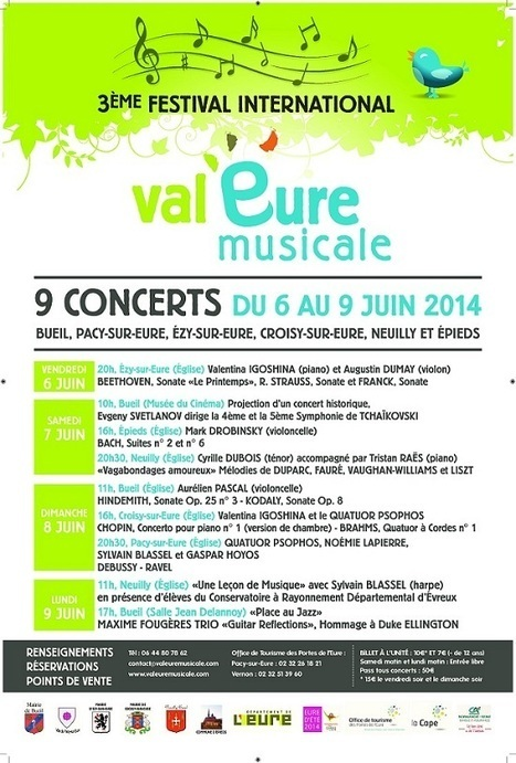 Festival Val'Eure 2014 du 6 au 9 juin - Accueil - eureasso.fr | Eureasso.fr | Scoop.it