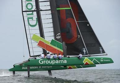Franck Cammas espère voler de nouveau ce samedi | Wing sail technology | Scoop.it