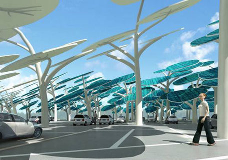 Beautiful Solar Forest Charging System for Parking Lots | thefuture | Scoop.it