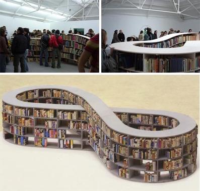 Never-Ending Stories? Infinite-Loop Bookcase Design | Designs & Ideas on Dornob | Furniture Design | Scoop.it