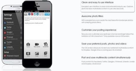 Everypost, app móvil para enviar contenidos a todas tus redes sociales | Addict to technology | Scoop.it