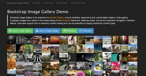 Bootstrap Image Gallery In Graphics Web Design