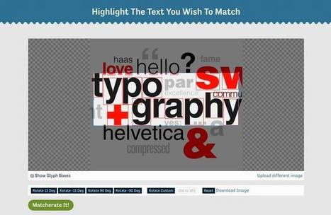 Matcherator : retrouver une typographie à partir d'une image | Time to Learn | Scoop.it