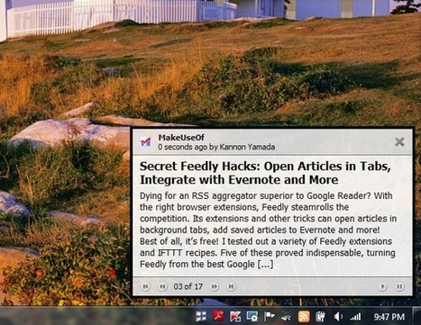 4 Tools to Display RSS Feed Updates Directly on Your Windows Desktop | RSS Circus : veille stratégique, intelligence économique, curation, publication, Web 2.0 | Scoop.it