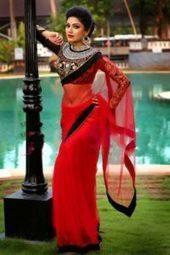 Avanthika Mohan Hot Navel Saree Malayalam Actre