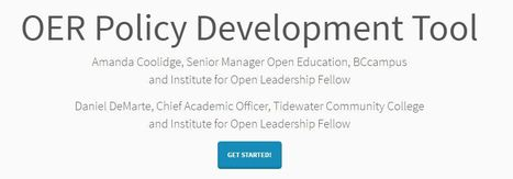 OER Policy Development Tool #opended #OER #highered #edtech | Ed Tech & Media | Scoop.it