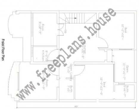 40 Square Meters To Feet | 30 40 Feet 108 Square Meters House Plan