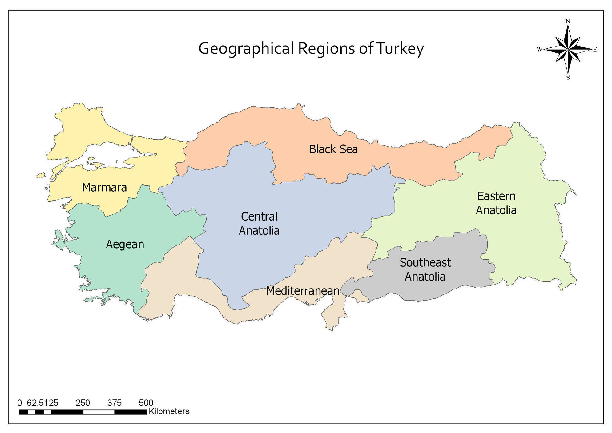 Picture of: Geographical Regions Of Turkey Map Scoop It