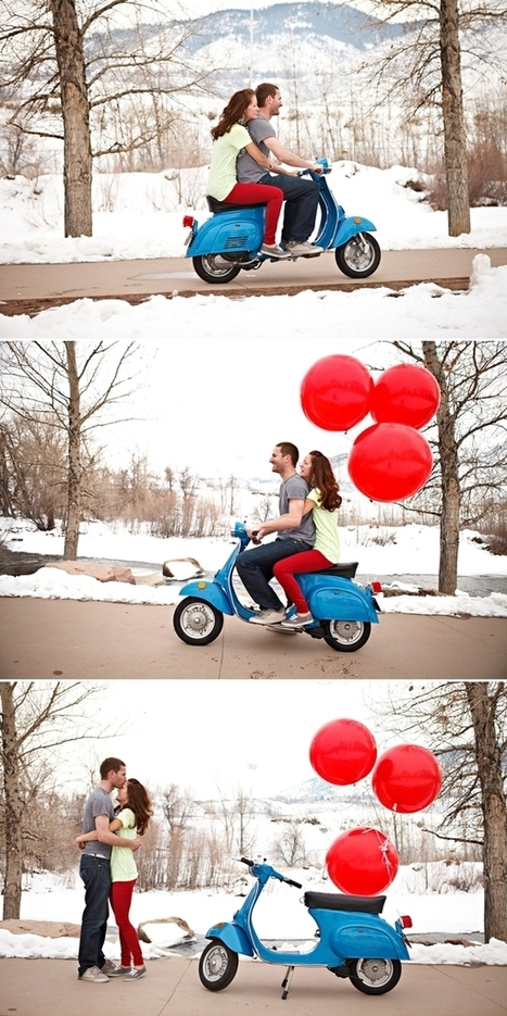 Red Balloons + a Blue Vespa - Couture   The march of the Mods   Scoop.it