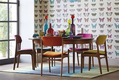 The insect trend in interior decorating   Silk Interiors Wallpaper. Interior Wallpaper   Scoop it