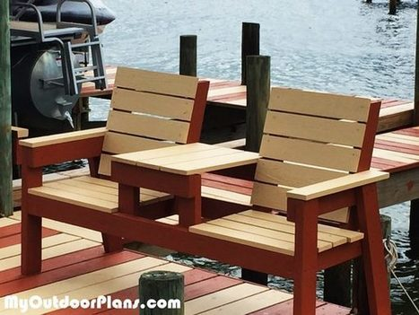 Sensational Diy 2X4 Double Chair Bench With Table Myoutdo Caraccident5 Cool Chair Designs And Ideas Caraccident5Info