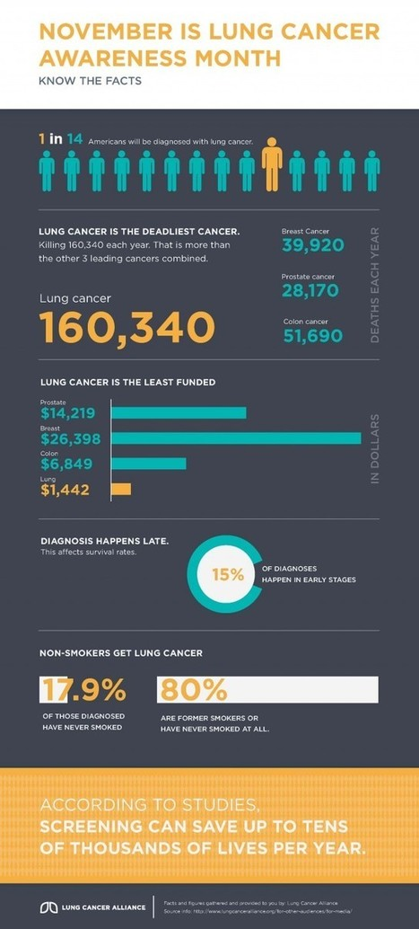 November is Lung Cancer Awareness Month [infographic]   Joel's Year 9 Journal   Scoop.it