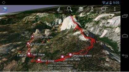 Google Earth : Accédez à vos cartes personnalisees Google Earth depuis votre mobile | Time to Learn | Scoop.it