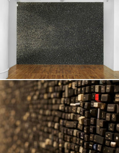 Wall of Computer Keys by Sarah Frost | Art Installations, Sculpture, Contemporary Art | Scoop.it