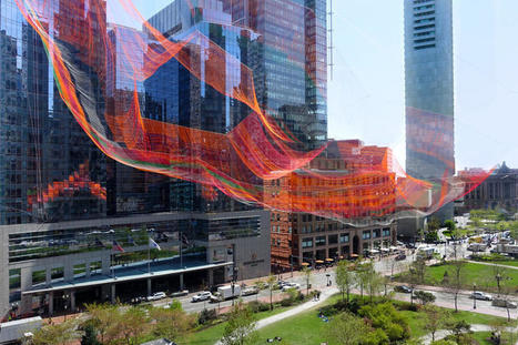 Janet Echelman Knits Together Boston's Urban Fabric | green streets | Scoop.it