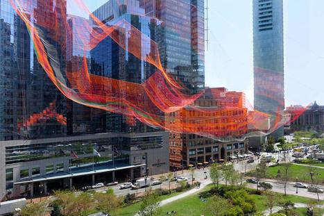 Janet Echelman Knits Together Boston's Urban Fabric | green streets | Scoop.it