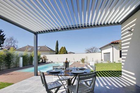 pergola bioclimatique par biossun pergolas al. Black Bedroom Furniture Sets. Home Design Ideas