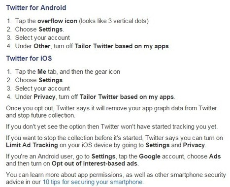 Twitter to start snooping at which apps you have installed - here's how to opt out | eSkills | Privacy | Professional development of Librarians | Scoop.it