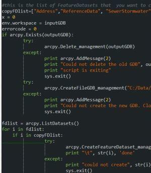 ArcPy : Favorite Code Editor | ArcPY - Pyt