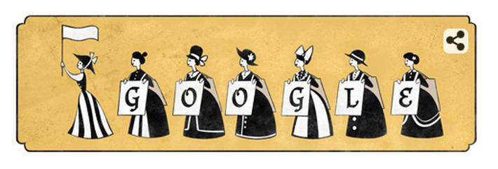 Emmeline Pankhurst: Google Doodle honours suffragette on 156th anniversary of her birth | Herstory | Scoop.it