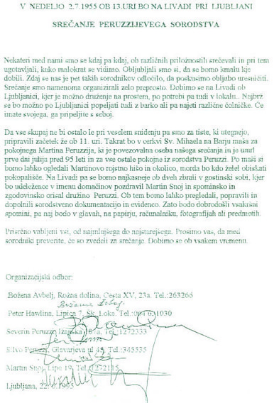 Srečanje Peruzzijev | Rodoslovje | Scoop.it