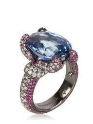 THEODOROS - SAPPHIRE AND RUBIES RING - LUISAVIAROMA - LUXURY SHOPPING WORLDWIDE SHIPPING - FLORENCE | GonPin.me | My Fasion 101 | Scoop.it