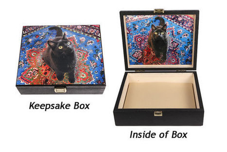 Cat Keepsake Box- Black Cat- with Surprise Inside! | Cat Art | Scoop.it