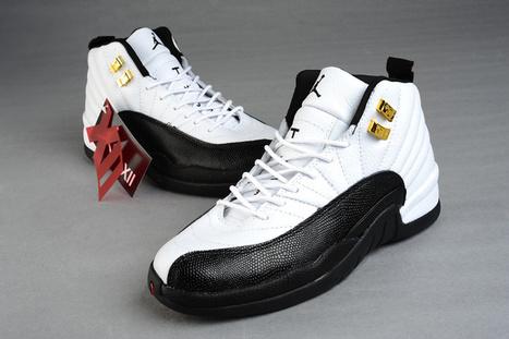 053e4bd08405a2 Men Gamma Blue Nike Air Jordans 12 Taxi Black White cheap sale get authentic