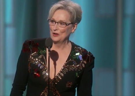 Meryl Streep Attacked on Social Media for Failing to Name Israel at Golden Globes When Pointing Out Natalie Portman's Birthplace | Business News & Finance | Scoop.it