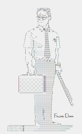 FALLING DOWN / Michael Douglas | ASCII Art | Scoop.it