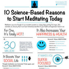 Benefits of Meditation: 10 Science-Based Reasons To Start Meditating Today INFOGRAPHIC - Emma Seppala Ph.D. | Positive Psychology | Scoop.it